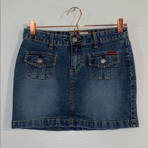 ROXY Juniors Denim Two Pocket Skirt